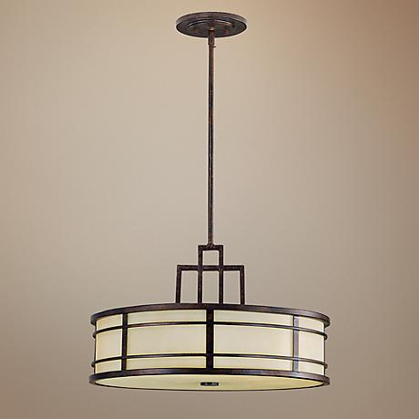 "Feiss Fusion 21"" Wide Duo-Mount Pendant Ceiling Light"