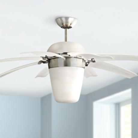 "44"" Monte Carlo Airlift Brushed Steel Ceiling Fan"