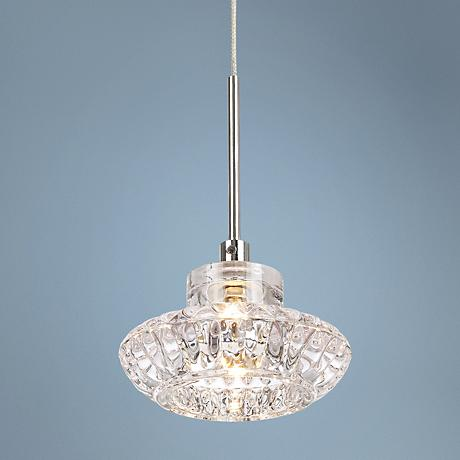 Anissa Clear Glass with Chrome Mini Pendant Light