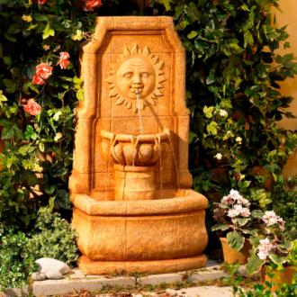 Sun Villa Faux Stone Outdoor Fountain