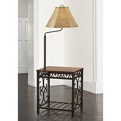 Travata End Table Floor Lamp