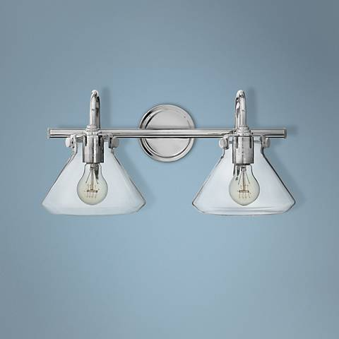 "Hinkley Congress 19 1/4""W Clear Glass Chrome Bath Light"
