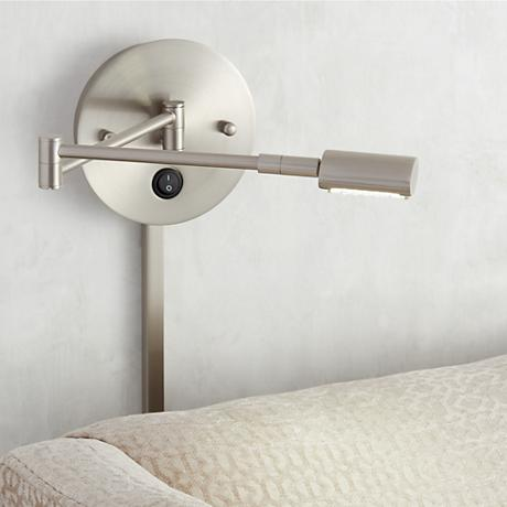 cyril plug in led swing arm wall lamp 5d217 www. Black Bedroom Furniture Sets. Home Design Ideas