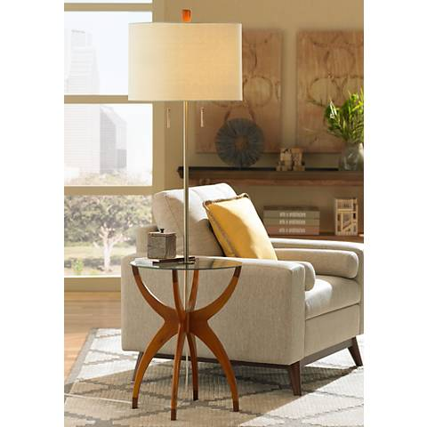 vanguard floor lamp with glass tray table 5d489 lamps plus. Black Bedroom Furniture Sets. Home Design Ideas