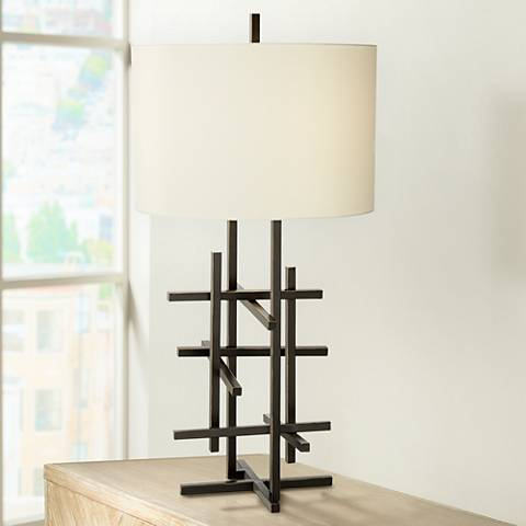 Kathy Ireland Enchanted Trellis Bronze Table Lamp