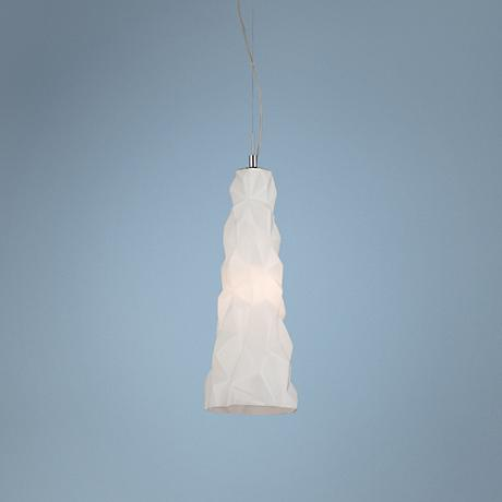 "Eurofase Lazer 19"" High Opal White Glass Pendant"