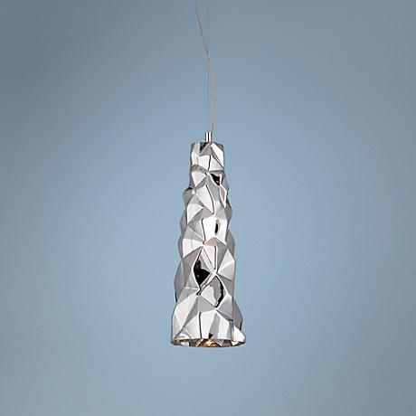 "Eurofase Lazer 19"" High Chrome Glass Pendant"
