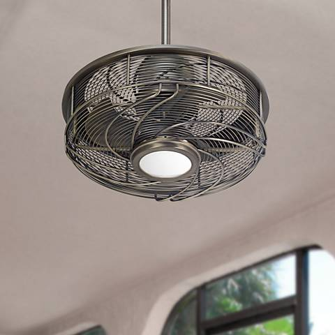 17 Inch Casa Vestige Antique Bronze Cage Led Ceiling Fan  5d998 on rustic chic bedroom ideas html