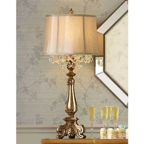 Dubois Crystal Spray Console Table Lamp