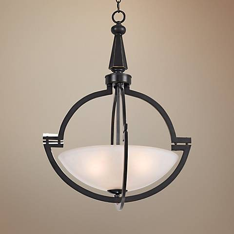 "Beverly Collection 20"" Wide Oil-Rubbed Bronze Pendant"
