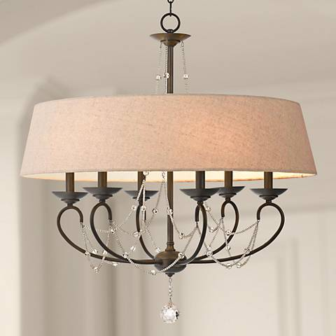 "Dawson Collection 30"" Wide Oil-Rubbed Bronze Chandelier"