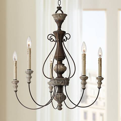 "Williams Collection 27"" Wide Rust Chandelier"