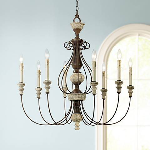 "Williams Collection 30"" Wide Rust Chandelier"