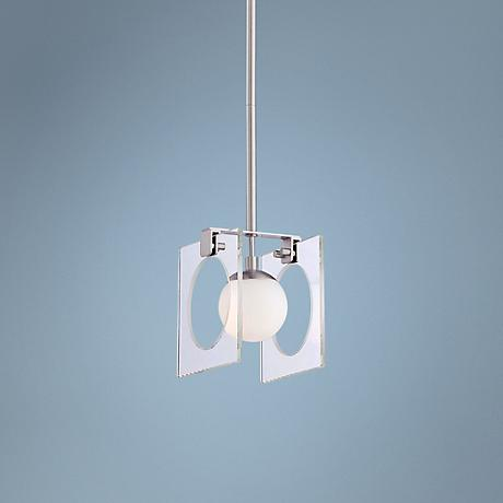 "Kovacs Hole-in-One 4 3/4"" Wide Nickel Mini Pendant"
