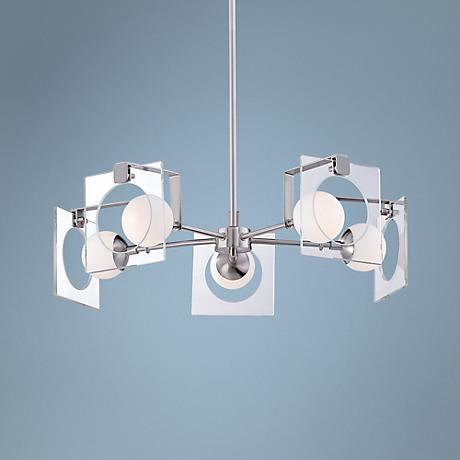 "Kovacs Hole-in-One 22 1/2"" Wide Brushed Nickel Chandelier"