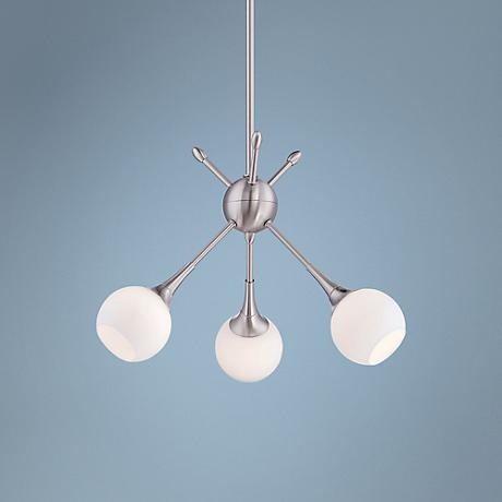 "George Kovacs Pontil 18"" Wide Brushed Nickel Pendant"