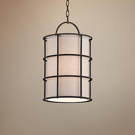 "Haven Collection 11"" Wide Liberty Rust Mini Pendant"