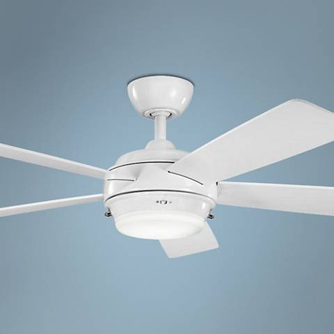"52"" Kichler Starkk White Ceiling Fan"