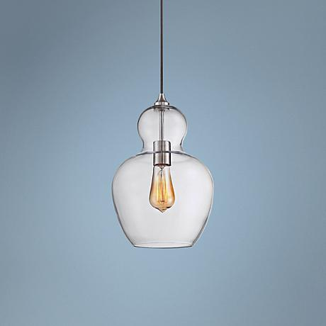 "Contemporary Urban 13 1/4"" Wide Clear Glass Pendant Light"