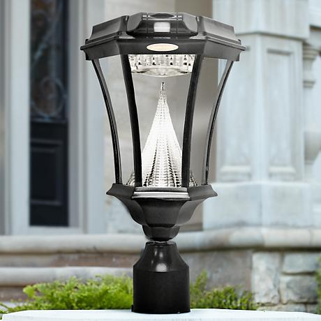 Victorian Black 3 Bracket Motion Sensor Solar LED Light