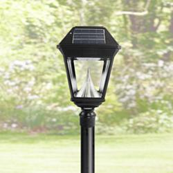 Imperial II Single Head Solar Power LED Outdoor Post Mount