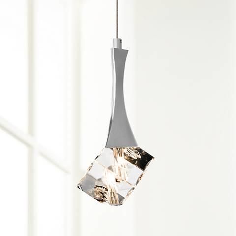 "Elan Rockne 4 1/4"" Wide Chrome Mini Pendant Light"
