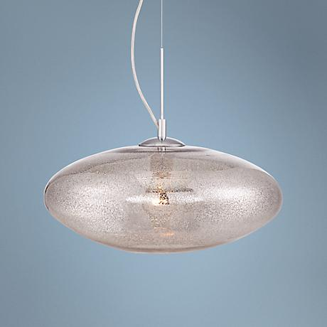 "Mazie 15 3/4"" Wide Mercury Speckled Glass Pendant Light"