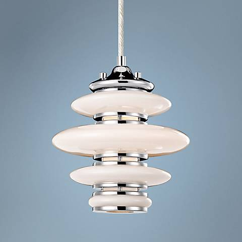"Elan Cumulus 8"" Wide Chrome Mini Pendant Light"