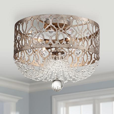"Jessica McClintock Home Lucero 16"" Wide Ceiling Light"