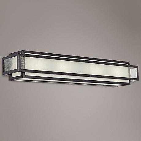 "Minka Camden Square 30"" Wide Charcoal Bath Light"