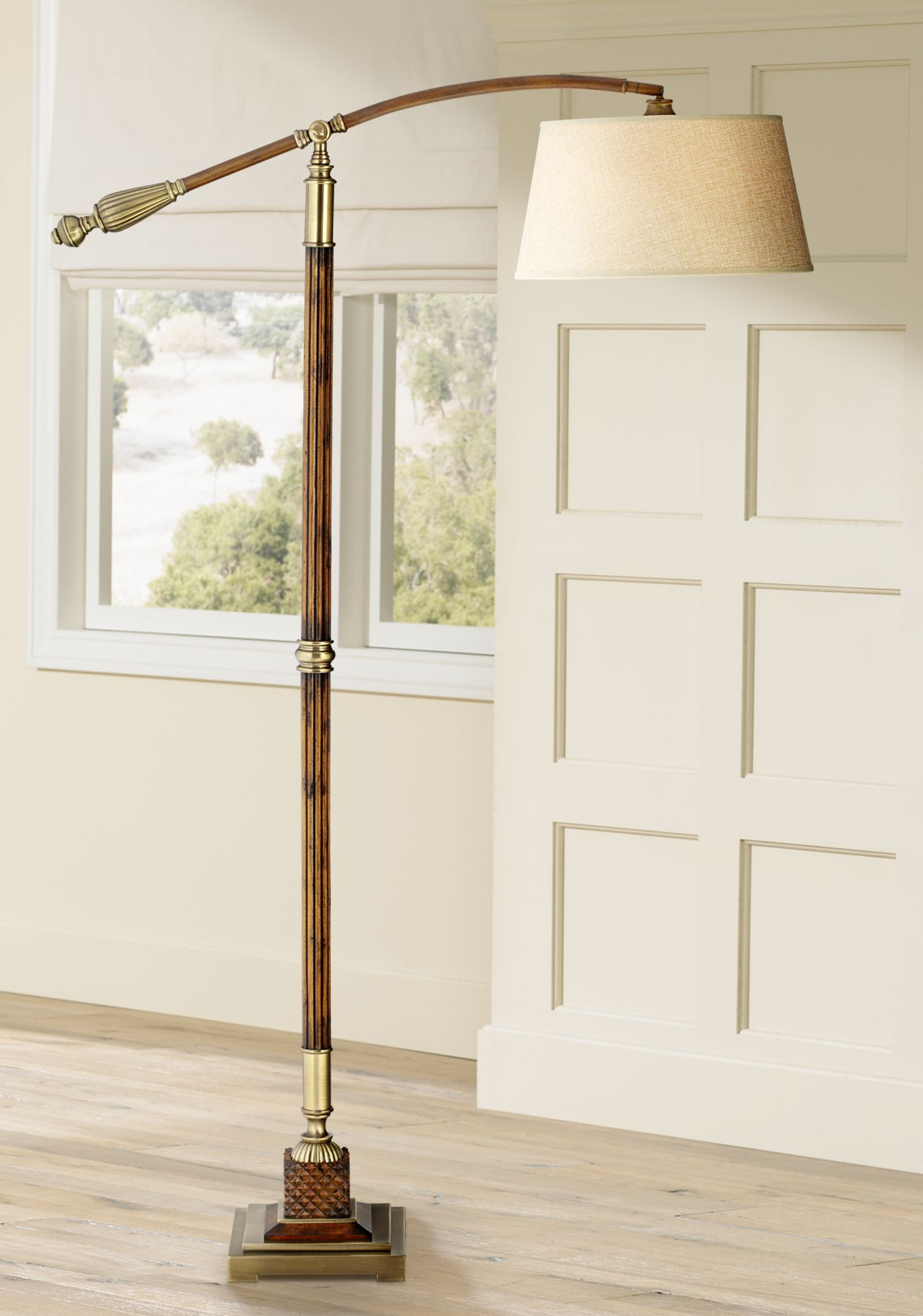 uttermost monroe downbridge arc floor lamp