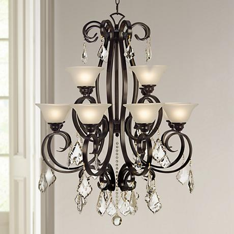 "San Dimas Collection 32"" Wide Black Chandelier"