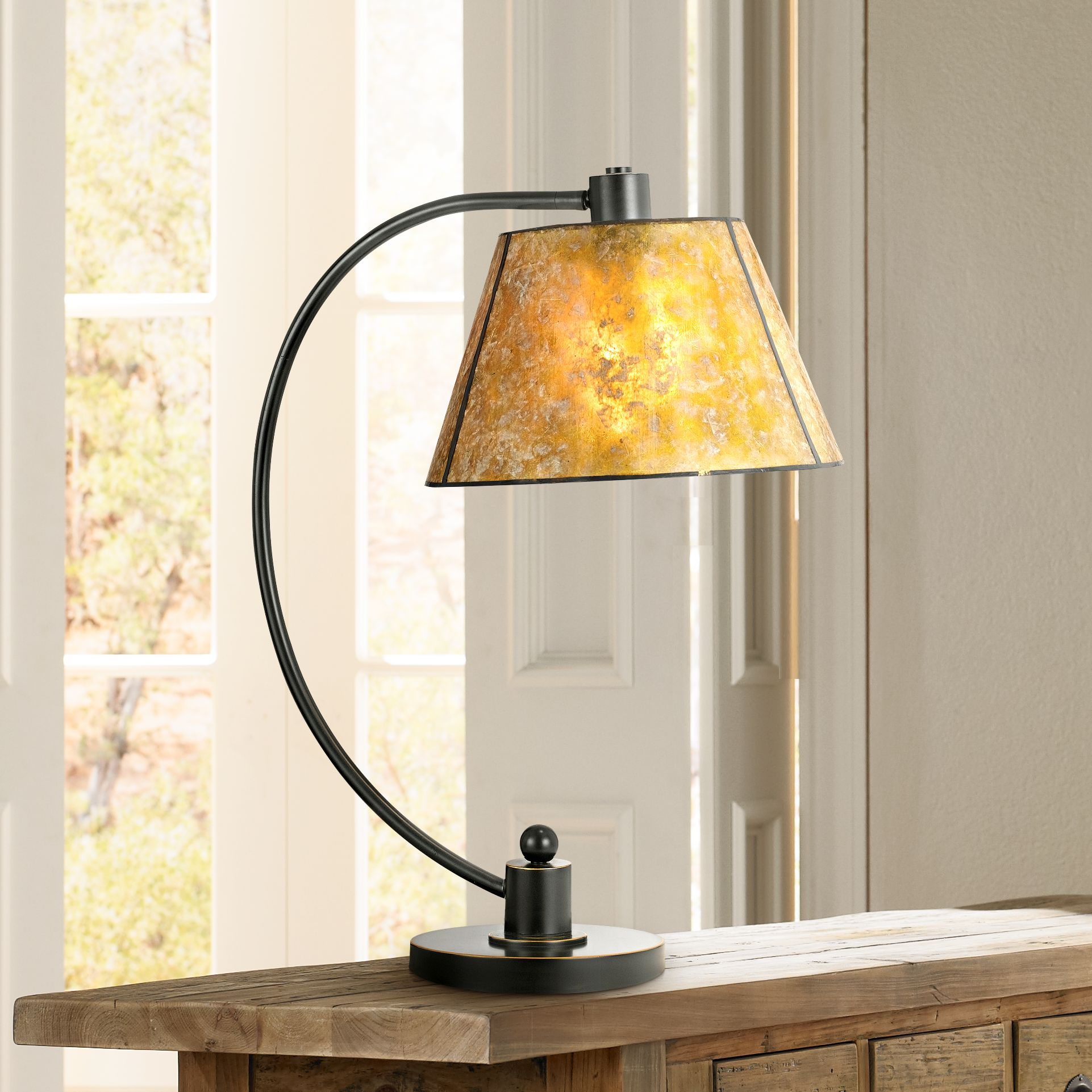 Cadiz Dark Bronze Metal Table Lamp