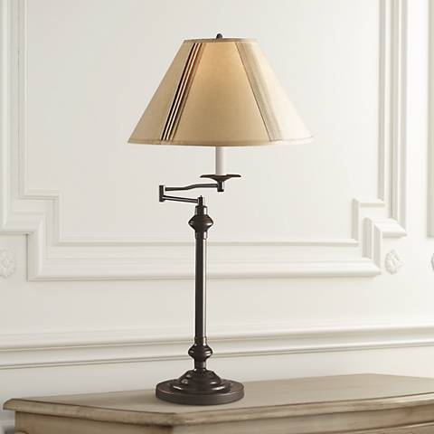 Bellhaven Dark Bronze Swing Arm Desk Lamp