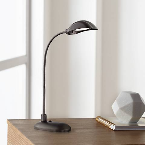 Lite Source Ettore Black Metal LED Desk Lamp