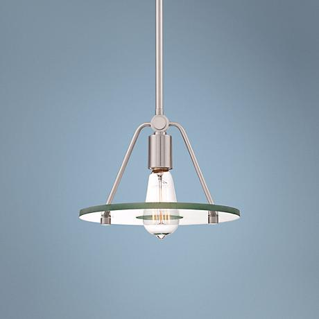 "Possini Euro Design Actona 10"" Wide Glass Mini Pendant Light"