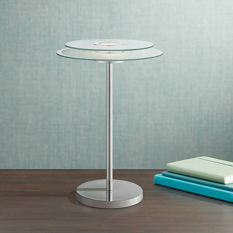Lite Source Zsoka Chrome and Glass LED Desk Lamp