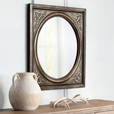 "Uttermost Ireneus 34"" Square Metal Wall Mirror"