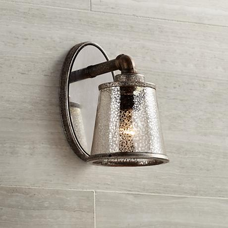 "Fillmore 9"" High Industrial Rust Wall Sconce"