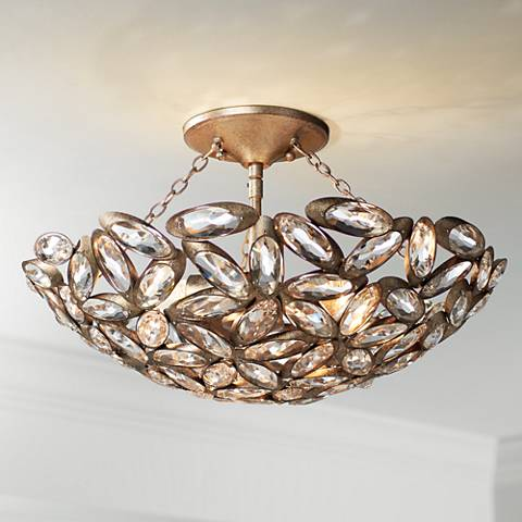 "Viera 20"" Wide Bronze Ceiling Light"