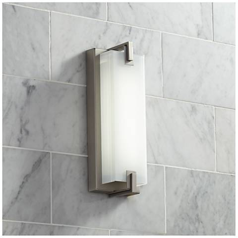 Possini Euro Sven Brushed Nickel 12 1 2 High Led Sconce
