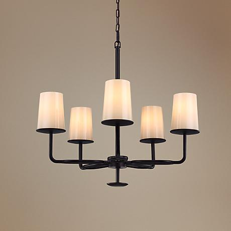 "Feiss Huntley 27"" Wide Oil-Rubbed Bronze Chandelier"