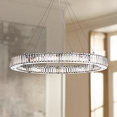 Large 31 in wide and up contemporary chandeliers for Possini lighting website