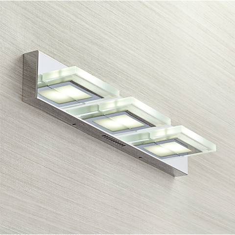 "Possini Euro Emilio LED 27 1/4"" Wide Chrome Bath Light"