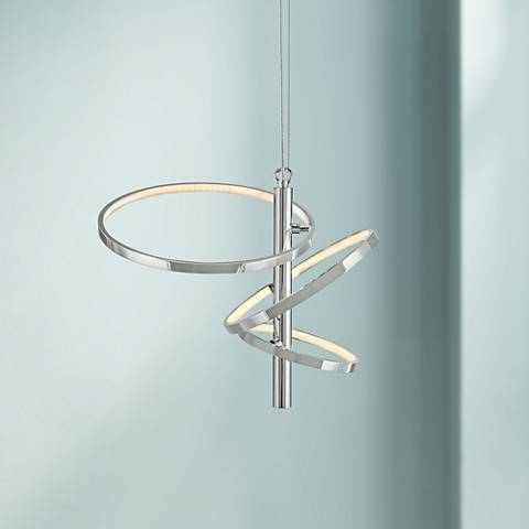 "Elan Sirkus 18 3/4"" Wide Dimmable LED Chrome Chandelier"