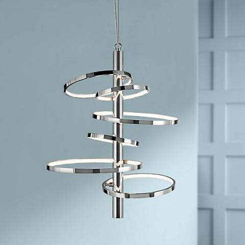 "Elan Sirkus 20 1/4"" Wide Dimmable LED Chrome Chandelier"