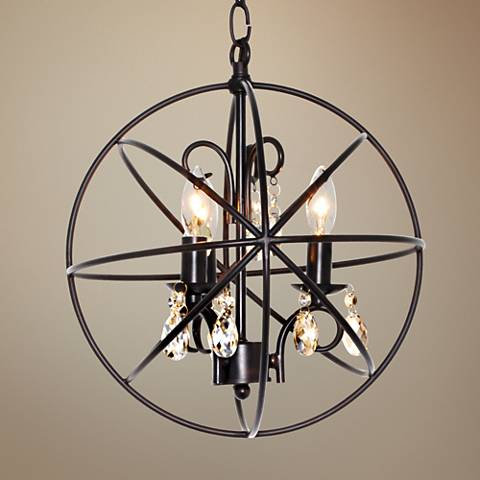 "Maxim Orbit 12"" Wide 3-Light Oil Rubbed Bronze Mini Pendant"