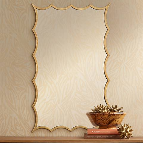 "Uttermost Dareios Gold 23 3/4"" x 38 1/2"" Wall Mirror"