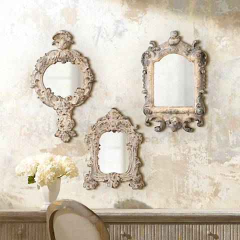 Uttermost Rustic Artifact Reflections 3-Piece Mirror Set