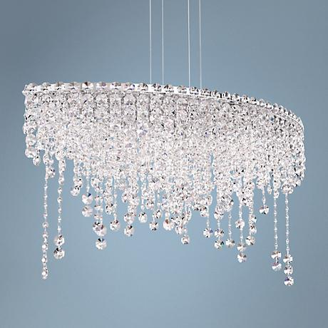 "Schonbek Chantant 33"" Wide Small Crystal Pendant Light"